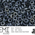 TN-08-0612 Demi Round TOHO: Matte-Color Gun Metal-0