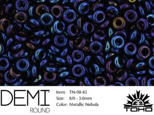 TN-08-0082 Demi Round TOHO: Metallic Nebula-0