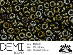 TN-08-0083 Demi Round TOHO: Metallic Iris Brown-0