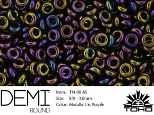 TN-08-0085 Demi Round TOHO: Metallic Iris Purple-0