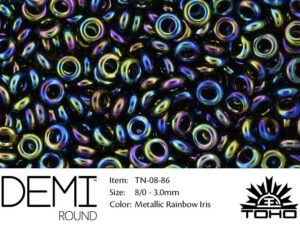 TN-08-0086 Demi Round TOHO: Metallic Rainbow Iris-0