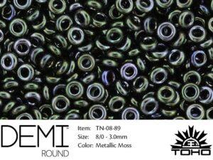 TN-08-0089 Demi Round TOHO: Metallic Moss-0