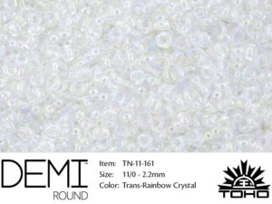 TN-11-0161 Demi Round TOHO Transparent-Rainbow Crystal-0