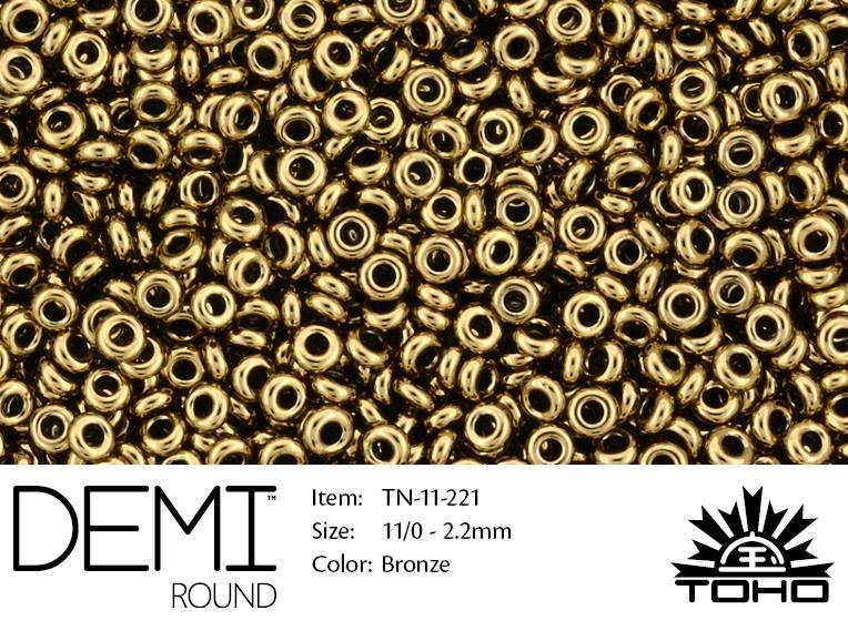 TN-11-0221 Demi Round TOHO Bronze-0