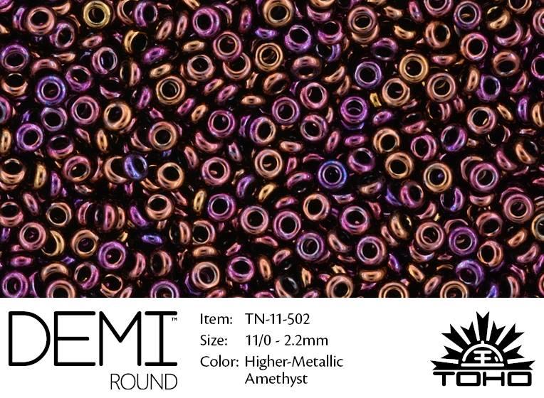 TN-11-0502 Demi Round TOHO Higher-Metallic Amethyst-0