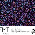 TN-11-0504 Demi Round TOHO  Higher-Metallic Iris Violet-0