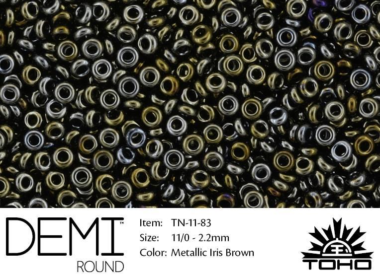 TN-11-0083 Demi Round TOHO Metallic Iris Brown-0