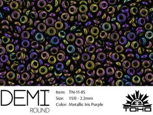 TN-11-0085 Demi Round TOHO Metallic Iris Purple-0