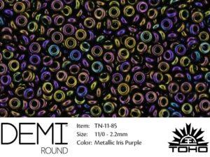 TN-11-0085 Demi Round TOHO Metallic Iris Purple-0