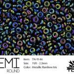 TN-11-0086 Demi Round TOHO  Metallic Rainbow Iris-0