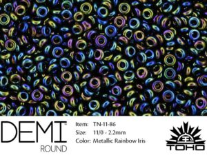 TN-11-0086 Demi Round TOHO Metallic Rainbow Iris-0