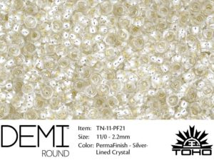 TN-11-PF0021 Demi Round TOHO Perma Finish Silver Lined Crystal -0