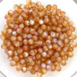 03-R-00030-84100-98535 Crystal Matte Brown Orange Rainbow Round 3 mm. 100 Pc.-0