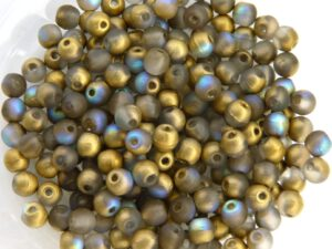 03-R-00030-84100-98536 Crystal Matte Golden Rainbow Round 3 mm. 100 Pc.-0