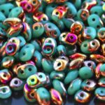 SD-63130-29500 Superduo Opaque Green Turquoise Sliperit 10 gram-0