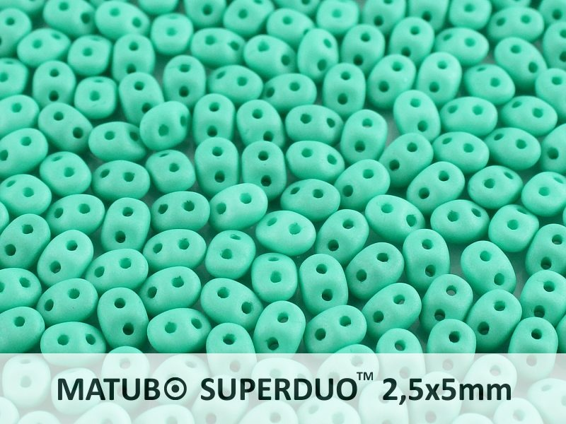 SD-63130-84110 Superduo Matte Opaque Green Turquoise10 gram-0