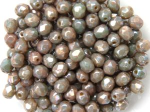 0040239 Opaque Beige Nebula Facet 4 mm. 50 Pc.-0