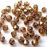 03-MC-00010-15695 Bicone, Crystal Senegal Luster, 3 mm. 50 Pc.-0