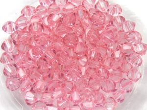 04-MC-00010-10028 Bicones Crystal Baby Pink Luster 4 mm. 50 Pc.-0