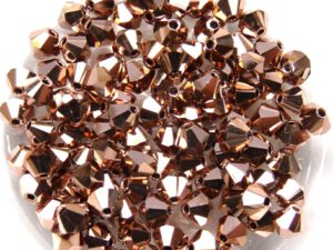 04-MC-00010-27100 Bicones Crystal Full Capri Gold 4 mm. 50 Pc.-0