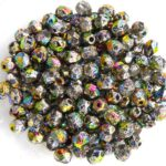 0020240 Crystal Etched Full Volcano Facet 4 mm. 50 Pc.-0