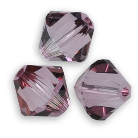 SW-03-CANP 5328 Crystal Antique Pink Swarovski Bicone 3 mm 40 Pc.-0