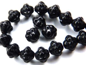 0010047 Jet Glass Bead 6 x 5,5 mm. 70 Pc.-0