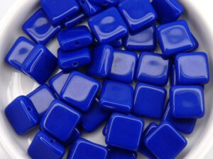 0090024 Opaque Blue square Bead. 30 Pc.-0