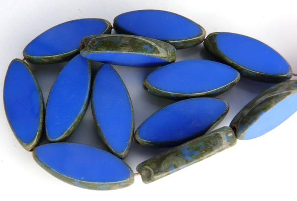 0090027 Opaque Sapphire Travertin Table Cut Bead. 5 Pc.-0
