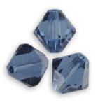 266-03 Denim Blue 5328  Swarovski Bicone 40 Pc.-0