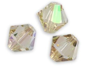SW-04-CLG 5328 Crystal Luminous Green Swarovski Bicone 4 mm 40 Pc.-0