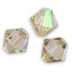 SW-03-CLG 5328 Crystal Luminous Green Swarovski Bicone 3 mm 40 Pc.-0