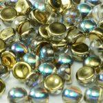 2HC-6-00030-98536 2-Hole Cabochon Crystal Golden Rainbow 25 Pc.-0