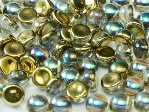 2HC-6-00030-98536 2-Hole Cabochon Crystal Golden Rainbow 25 Pc.-0