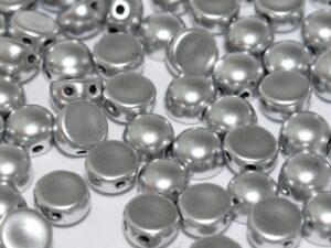 2HC-6-00030-01700 2-Hole Cabochon Silky Aluminium Silver 25 Pc.-0