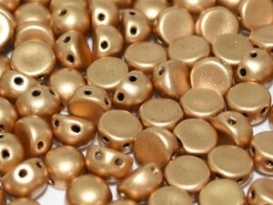 2HC-6-00030-01710 2-Hole Cabochon Silky Aztec Gold 25 Pc.-0