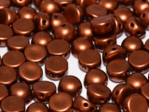 2HC-6-00030-01750 2-Hole Cabochon Silky Copper 25 Pc.-0