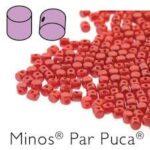 MIN-02010-25010 Pastel Pearl Dark Coral Minos par Puca  10 gram-0