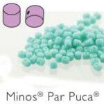 MIN-63130 Opaque Green Turquoise Minos par Puca  10 gram-0