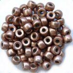 0030050 Silky Light Brown Roller Bead. 30 Pc.-0