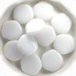 0140023 Chalk White, 5 kantige platte schijf. 13 Pc.-0
