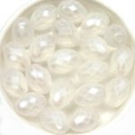 0140219 Matte Oval Crystal special coated. 6 Pc.-0