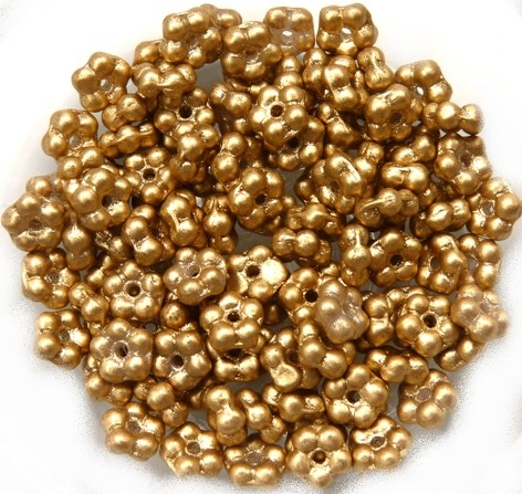 FN-00030-01710 Silky Gold Forget-Me-Not Beads 50 Pc.-0