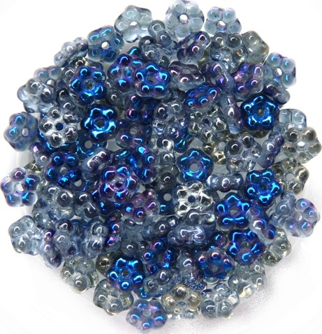 FN-30020-23101 Light Sapphire Blue Heliotrope Forget-Me-Not Beads 50 Pc.-0