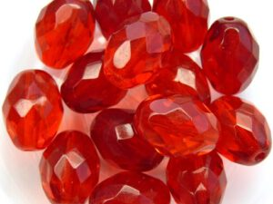 0050234 Siam (rood) Oval facet 13 x 10 mm. 6 Pc.-0