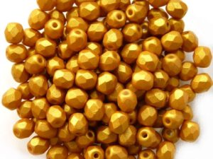 0130128 Gold Shine Yellow Sun facet 4 mm. 50 Pc.-0