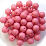 06-R-02010-29560 Saturated Pink Round 6 mm. 50 Pc.-0