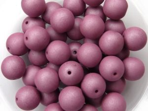 08-R-02010-29565 Saturated Hyacinth Violet Round 8 mm. 25 Pc.-0