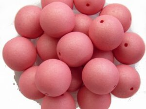 10-R-02010-29560 Saturated Pink Round 10 mm. 15 Pc.-0
