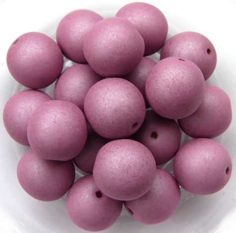 10-R-02010-29565 Saturated Hyacinth Violet Round 10 mm. 15 Pc.-0